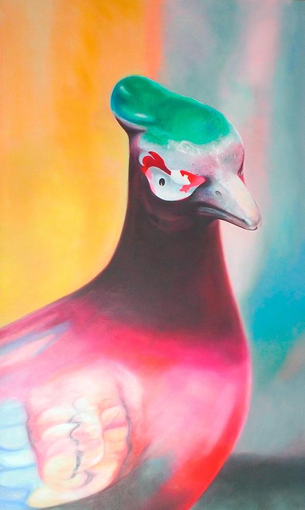Pheasant Portrait Chipped Paint - Melanie MacDonald